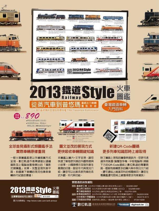 2013鐵道Style火車圖鑑 付框海報