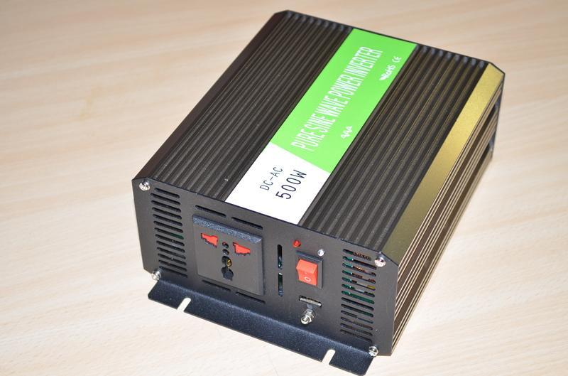 純正弦波 500 W反接保護  逆變器 DC12 V轉AC 110 V太陽能 風力發電 露營車 工地交流電專用
