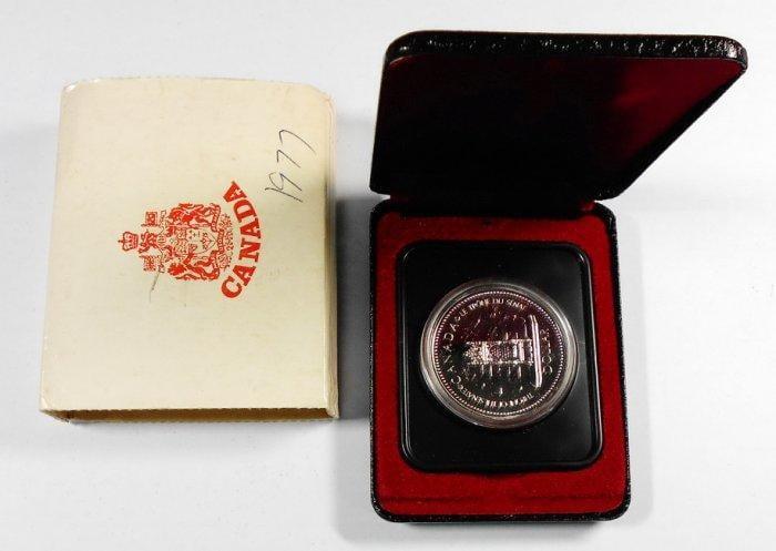 DB137 加拿大1952-1977年 登基加冕週年DOLLAR銀幣 盒裝 重約23.3g