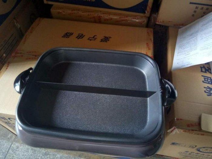 電烤盤烤魚爐分體不粘電烤盤愛寧AN-301烤魚鍋烤肉機家用紙上烤魚盤商用 Igo