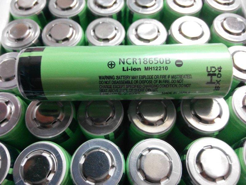【電池急診室】全新凸點電池日本Panasonic國際牌NCR18650B 3400mAh (買2顆送電池收納盒)手電筒