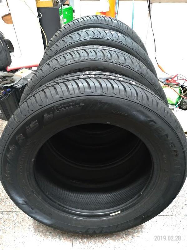 195 60 R 15 16年49週製造 將軍輪胎 馬牌副牌 歐洲製 非CEC 5 CC6  二手 中古 一輪700元