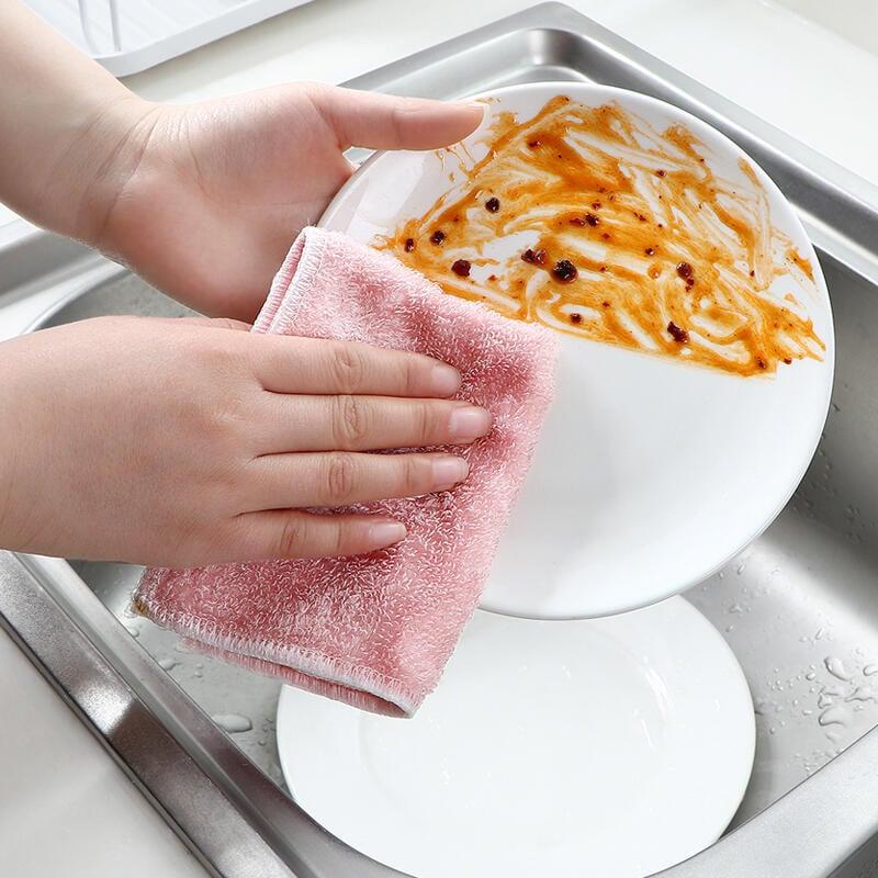 免運 竹纖維不沾油洗碗布家務清潔抹布家用廚房用品吸水洗碗巾 居家Zakka 居家小物 居家雜貨 居家小物