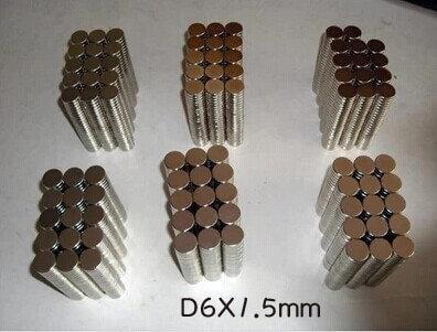 *樂源*N35強力磁鐵 圓形D6X1.5mm釹鐵硼 吸鐵石 磁鋼 強磁 直徑*高度6X1.5mm圓型