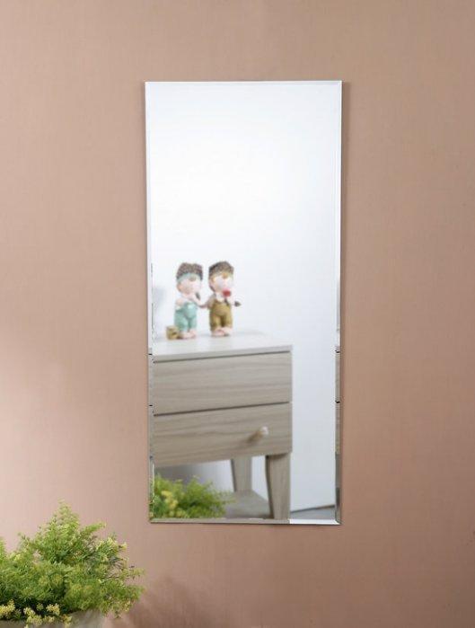 無框斜邊壁鏡(40*90公分) 貼鏡 掛鏡 全身鏡【型號MR4095 】送雙面泡棉膠