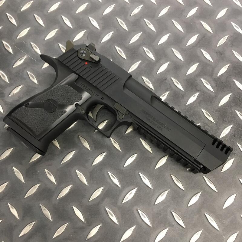 【IDCF】Cybergun / WE 授權美版刻字 黑色魚骨版 沙漠之鷹 瓦斯手槍 DE.50 M16613