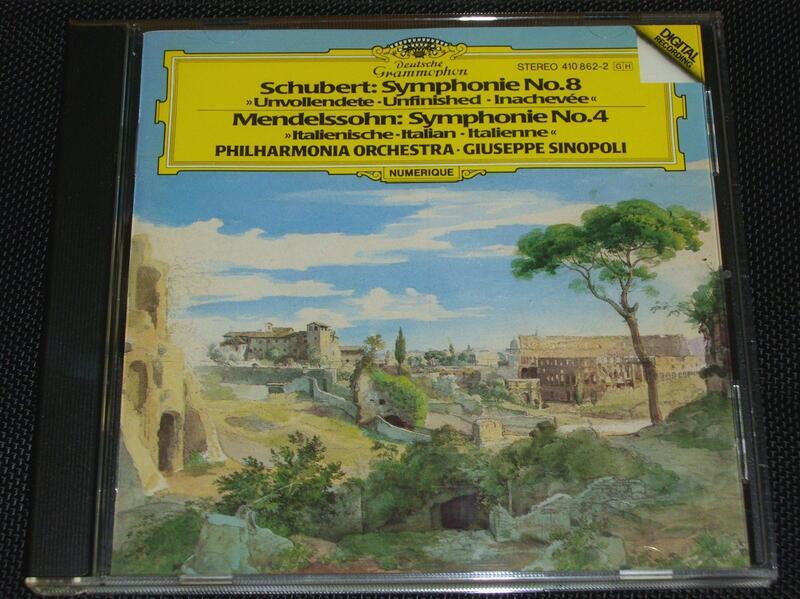 舒伯特 - 第八號交響曲 / 舒曼 - 第四號交響曲 / 辛諾波里 / DG 無IFPI