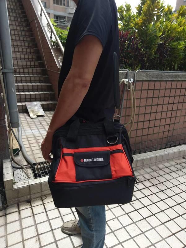 BLACK & DECKER 多功能美式鋼絲雙層工具包/工具袋/工具箱/收納袋