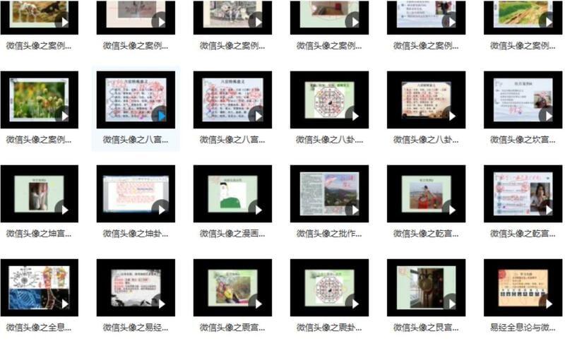 仙撲門《頭像識人術、微信頭像實戰案例、頭像易經全息》48集視頻