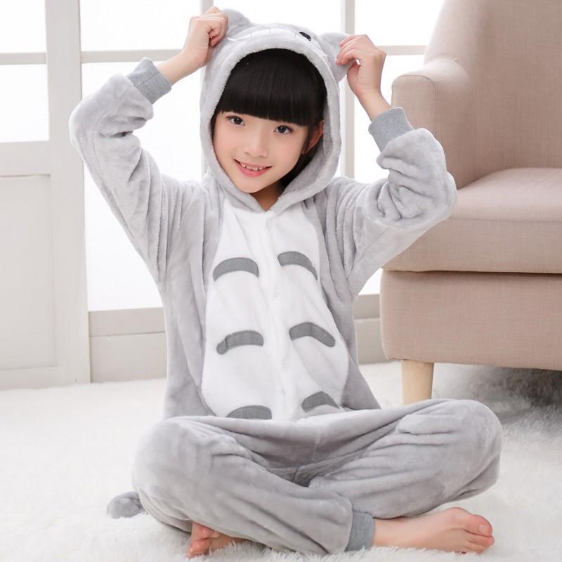【四件免運】龍貓睡衣 兒童睡衣 兒童卡通睡衣 法蘭絨兒童動物連身睡衣 道具服 兒童表演服角色扮演服 動物睡衣 動物裝