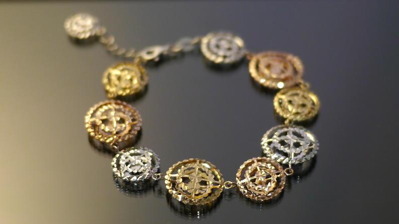晴日小舖 gold  ITALY 585 K金 手環 [ kb 053 ]-1.41