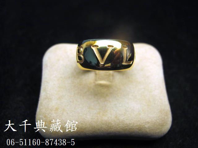 【大千當舖】正品BVLGARI 寶格麗    Monologo英文刻字Band Ring