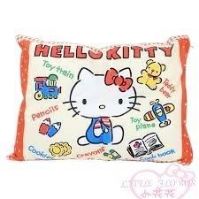 ♥小花花日本精品♥Hello Kitty 凱蒂貓塗鴉火車蠟筆圖案抱枕小枕頭靠墊靠枕午安枕午睡枕33207605