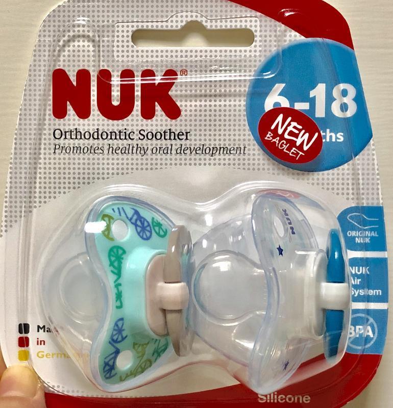 [全新] NUK 安撫奶嘴 6-18個月 矽膠 乳膠