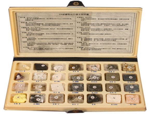 【科學博士】(福利品)礦物岩石標本組(28種)特價出清