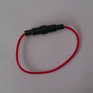5*20mm 保險絲座帶線/保險管座 線長26CM內帶彈簧 線外徑2.55MM  W2  [55687-017]