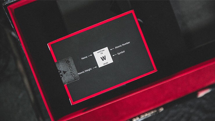 NLimiLimited Edition Wolfram V2 Rouge et Noir Playing Cards