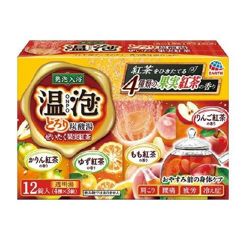 日本地球製藥 溫泡 碳酸入浴錠/溫泉錠12錠(水果紅茶)♥4901080559715(泡澡/入浴)