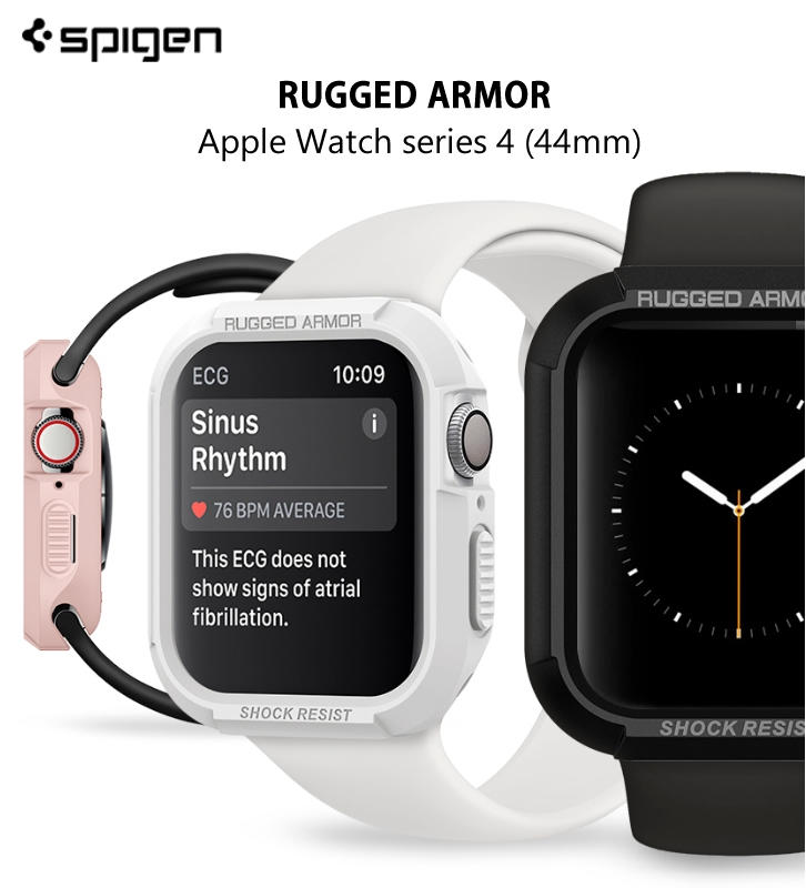 new product a794c 53808 Spigen Apple Watch Series 4 (44/40mm) Rugged Armor SGP 防摔保護殼