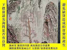 古文物罕見中美協會員,中華文化促進會理事,陝西書畫藝術研究院副院長,詩人俊海(本名黃園明)《秦嶺春景》,個性鮮明,獨樹一