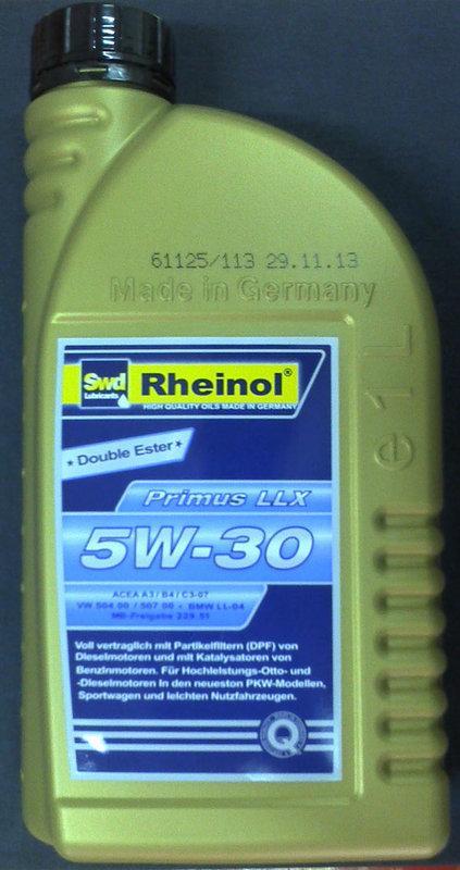 swd rheinol primus llx sae 5w 30 5w30 1