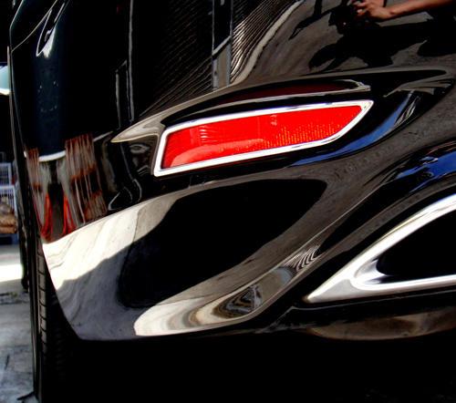 圓夢工廠 Lexus LS460 LS460L LS600hL 2012~2017 鍍鉻銀 改裝 後反光片飾框 後霧燈框