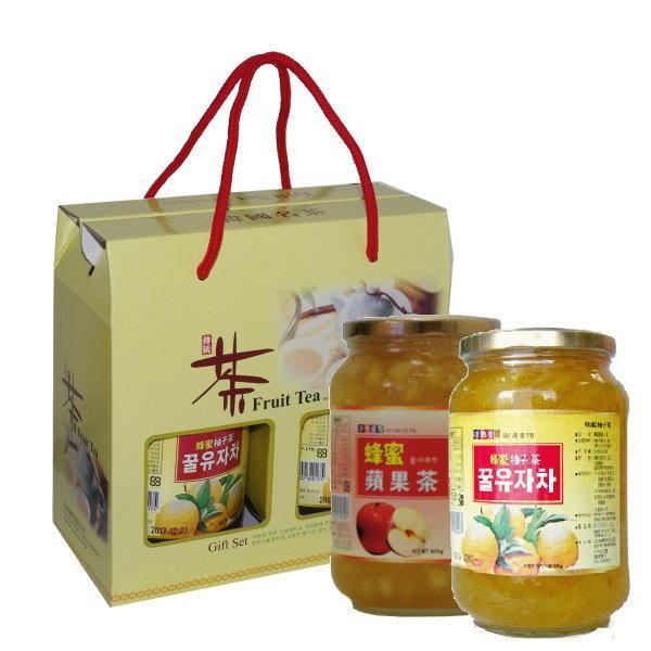 高麗購◎正友蜂蜜柚子茶蜂蜜蘋果禮盒◎6盒/免運費/過年送禮,謝師送禮最佳