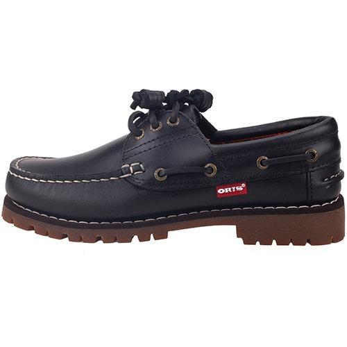 KM 女款 ORIS 梅花鋸齒狀大底 雷根鞋 帆船鞋 休閒鞋 情侶鞋 尺碼不合提供換貨免運費 黑色