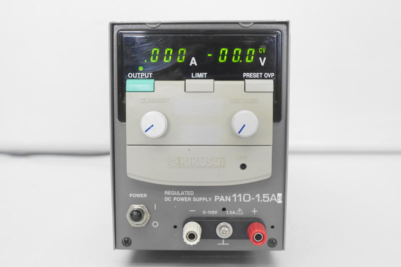 (HLFA-TMA)Kikusui 菊水 PAN110-1.5A 電源供應器110V 1.5A Power Supply