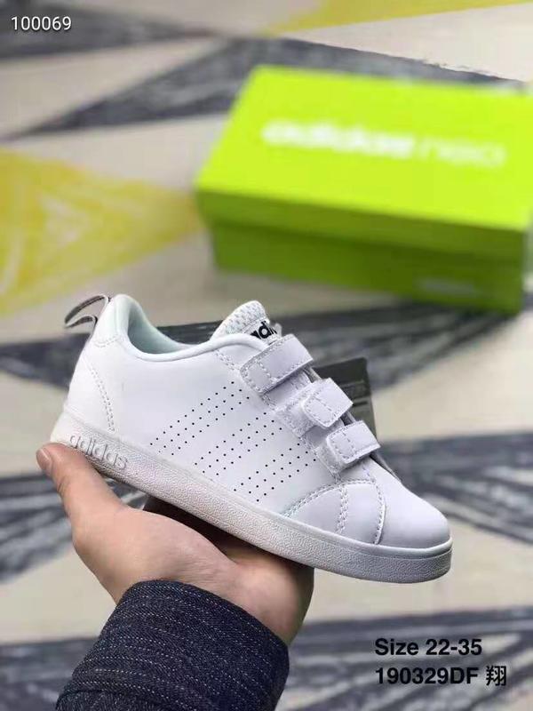 阿迪達斯NEO童鞋 Adidas Valclean2 CMF LNF中大童魔術貼運動板鞋#190329DF