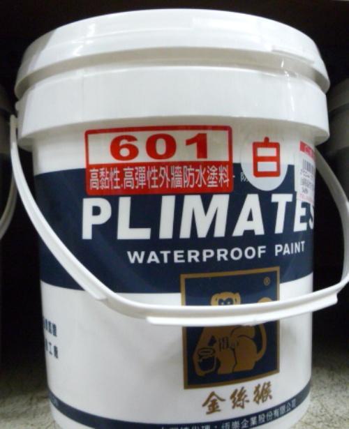 金光興修繕屋~金絲猴P-601 高黏性高彈性外牆防水塗料-1加侖(白色 )