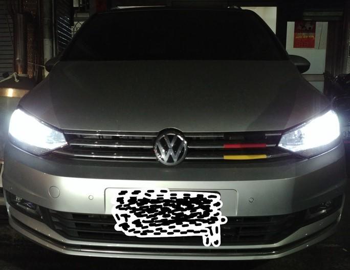 Volkswagen TOURAN 16年17年18年TL版 H7 LED大燈LED燈泡GOLF7 GOLF 7.5解碼