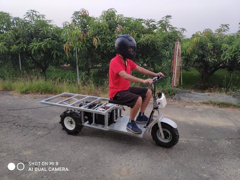 溫室農用搬運車 溫室採收車  三輪電動 無刷電機