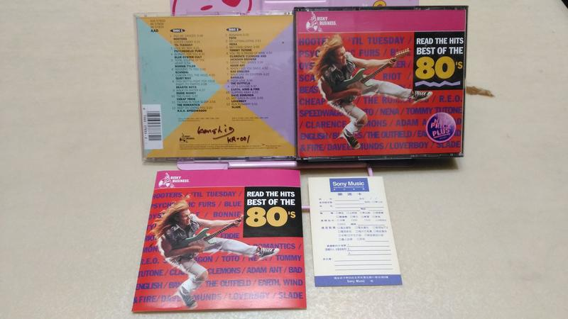 SONY 80年代西洋熱門流行精選2CD Read The Hits Best Of The 80's