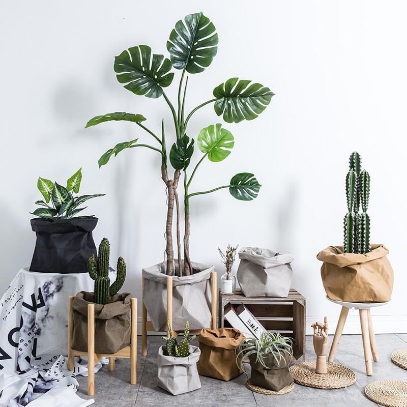 北歐ins仿真假植物綠植龜背葉盆栽 落地服裝店櫥窗門口大裝飾擺件
