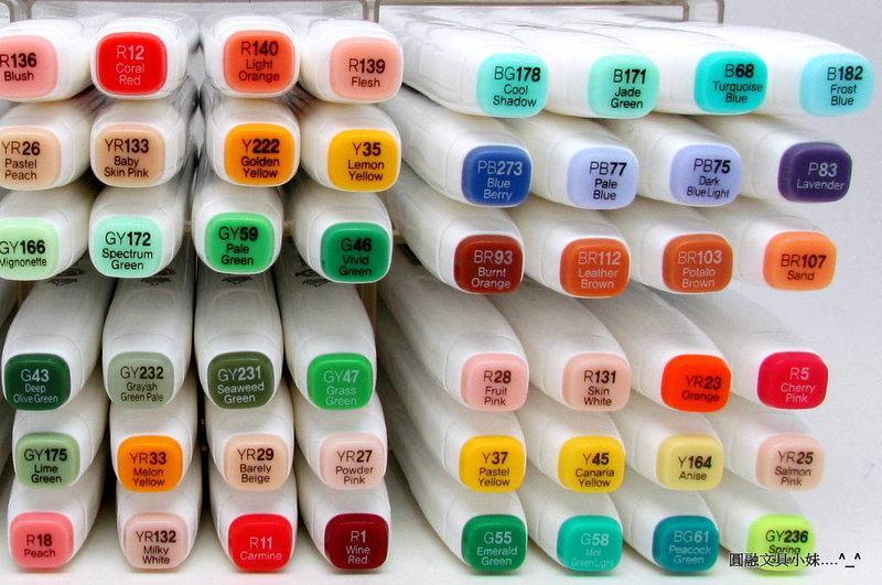 【圓融文具小妹】韓國 新韓 TOUCH Markers 美術 麥克筆 雙筆頭 72色 單支賣 賣場B