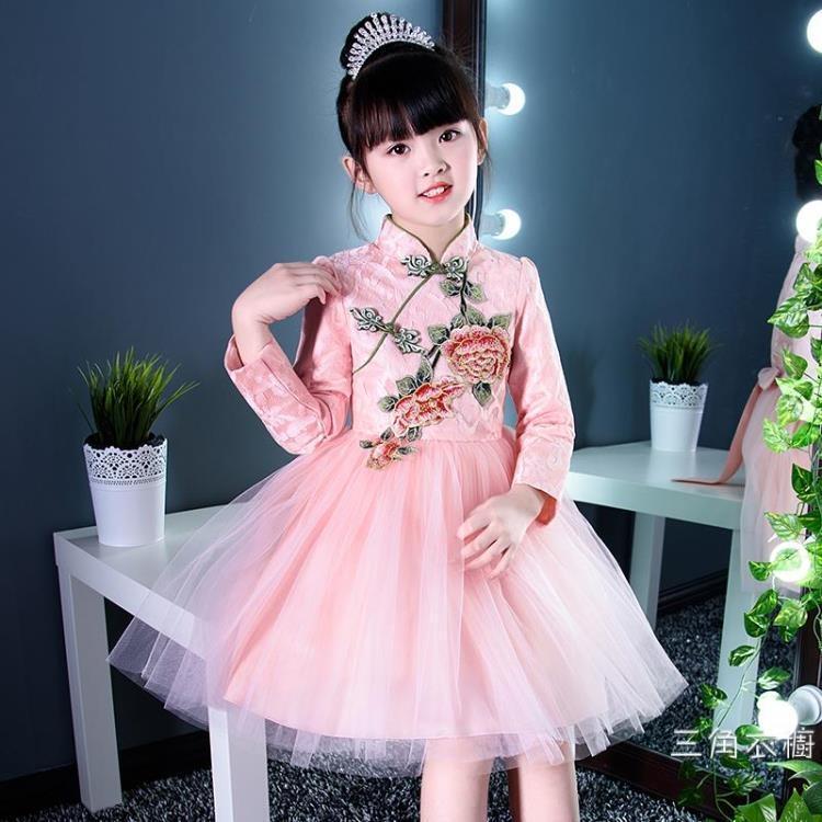 女童旗袍秋冬裝兒童唐裝女中國風拜年服新年裝中國風童裝漢服