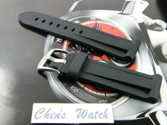 【錶帶家】代用Panerai 沛納海 26mm 收 24mm Fortis Hamilton 高級PU膠帶