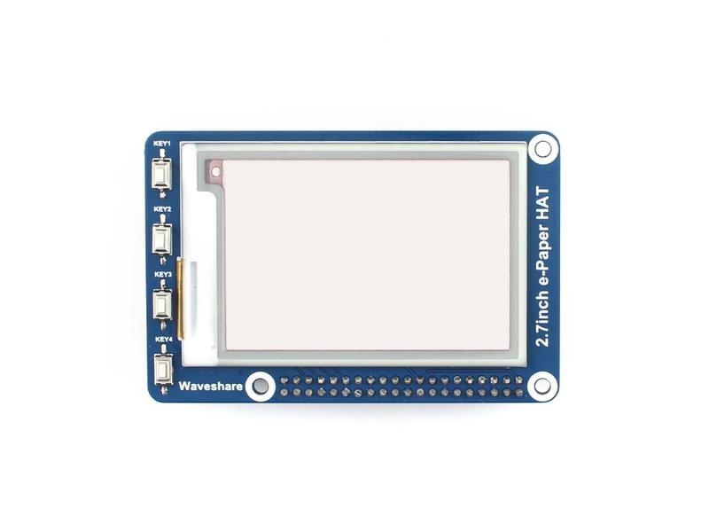 2.7寸墨水屏B型 電子紙屏模組 SPI介面 紅黑白三色 樹莓派 w43 056 [9000053]