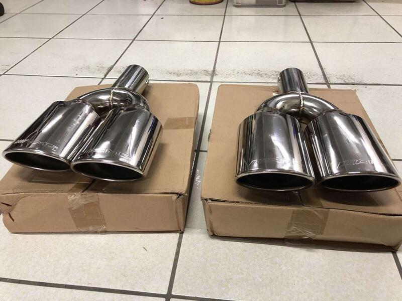 AMG樣式 4出 排氣管 尾飾管 不鏽鋼 W203 W210 W211 W220 W221