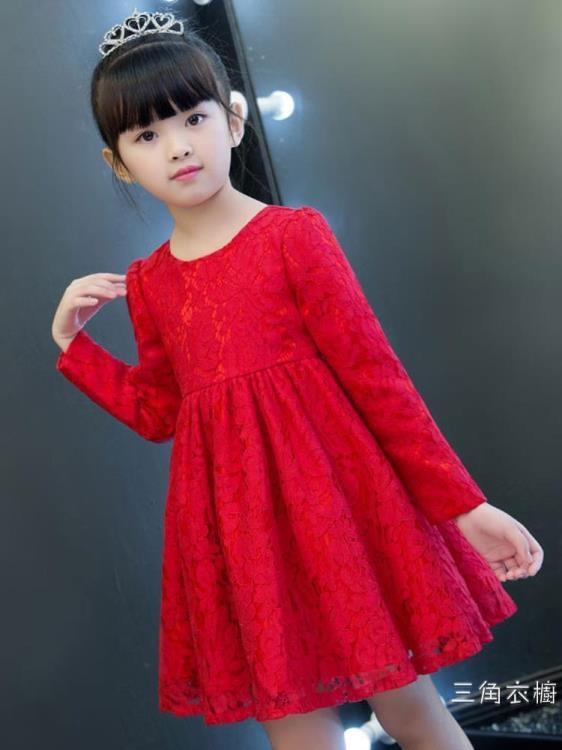 女童秋裝洋裝2018新款韓版潮長袖公主洋氣大童兒童女孩裙子禮服