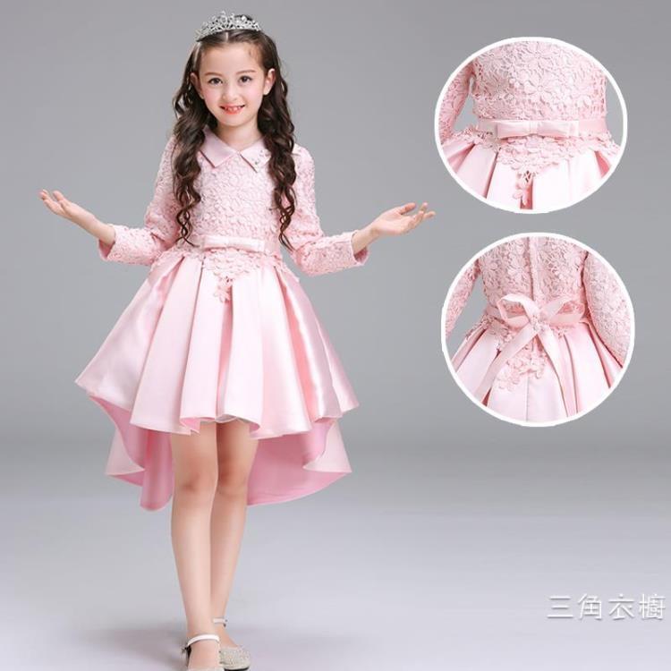 女童公主洋裝秋冬春裝2018新款寶寶韓版童裝禮服兒童紅