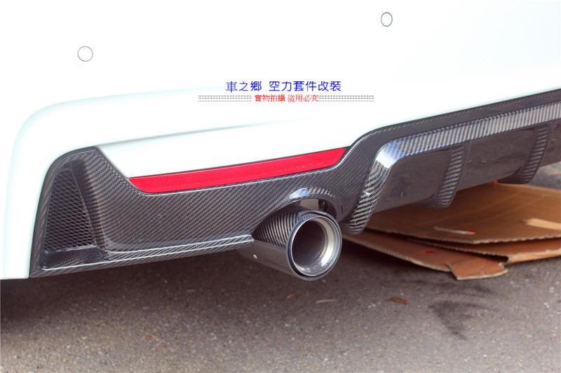 車之鄉 BMW 4系 F32 / F36 M-Performance 碳纖維後下巴 (台灣抽真空製造)