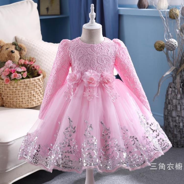 兒童秋裝洋裝女童長袖公主裙2018新款蓬蓬紗裙花童禮服秋季裙子
