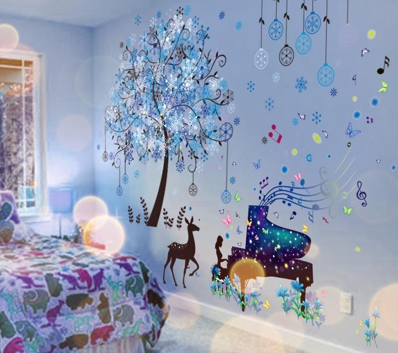 999小舖3D立體創意牆貼紙貼畫臥室房間牆面裝飾壁紙海報牆壁溫