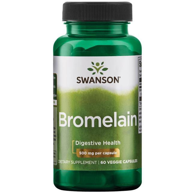 【健康小站】現貨任2瓶免運 Swanson Bromelain 強效鳳梨酵素 1200GDU 500mg 60顆