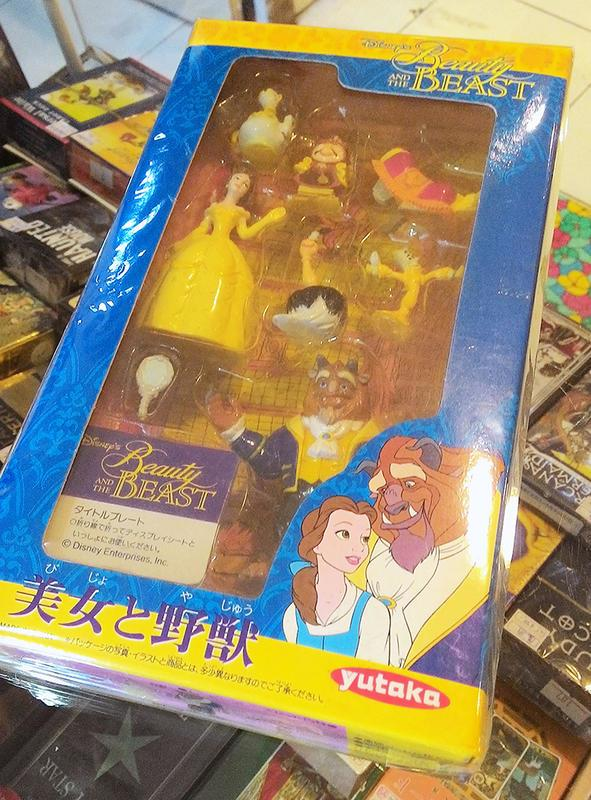 【絕版美品】迪士尼 YUTAKA錄影帶公仔人偶組  迪士尼公主 disney princess 美女與野獸 貝兒