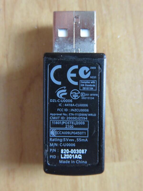 羅技 Logitech 1對1 保證 原廠無線接收器DZL-C-U0006  80/個