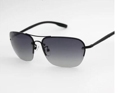 Kelly新款半框太陽鏡男女通用偏光司機鏡 開車釣魚防紫外線眼鏡
