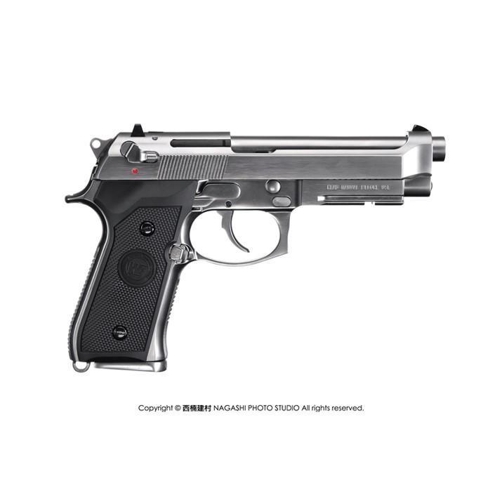 <傻瓜二館>WE 新款仿真 M9A1 全金屬 單連發 銀色~瓦斯手槍(送LED閃爆槍盒) 玩具槍 BB槍 生存遊戲